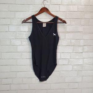 Victoria's Secret PINK black bodysuit